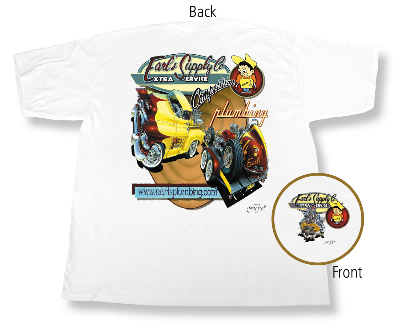 White Earl's Retro T-Shirt (3X-Large)
