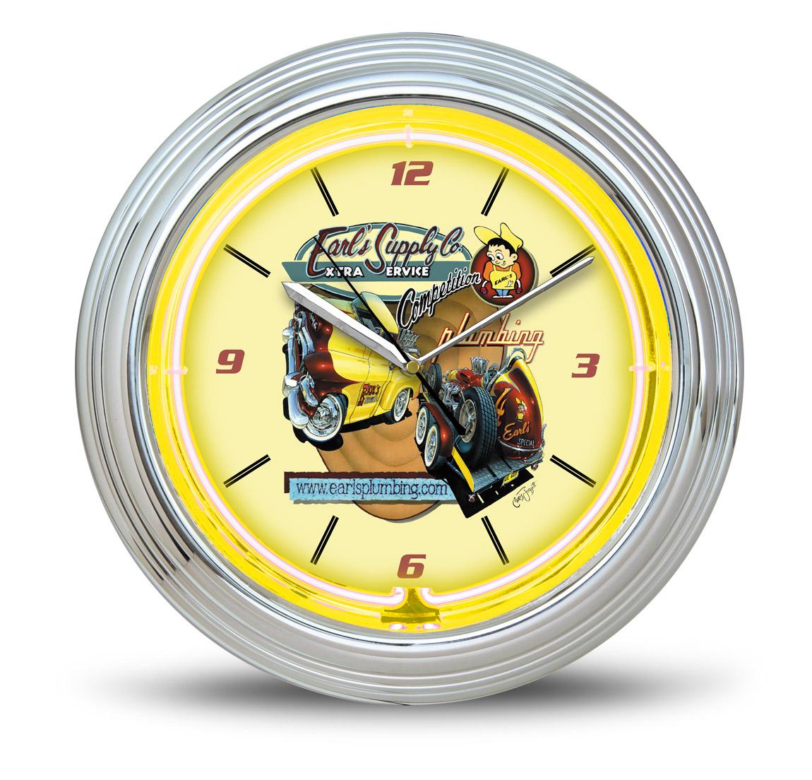 Earl's Neon Clock