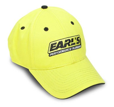 Earls yellow cap with black trim