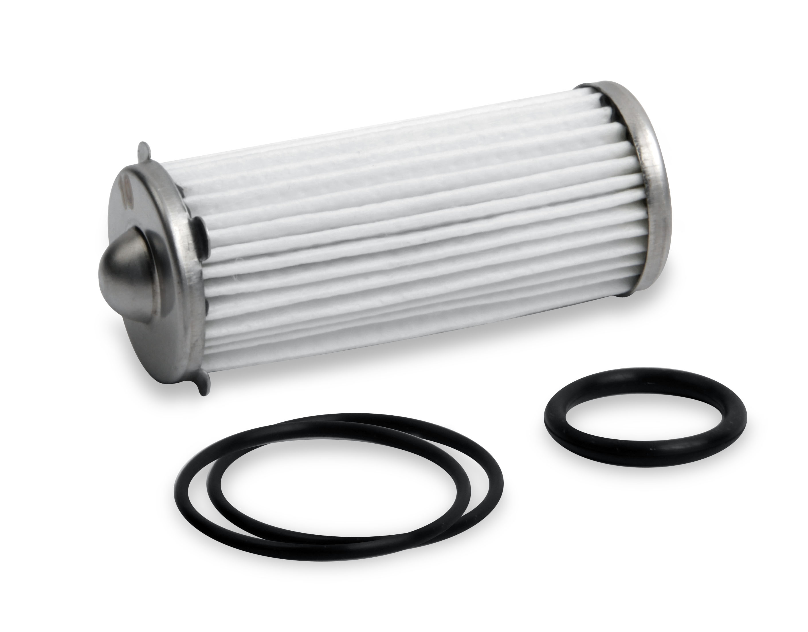Earls 260 GPH HP Billet Fuel Filter Depth Media Element & O-Ring Kit - 10 micron