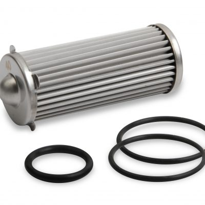 Earls 260 GPH HP Billet Fuel Filter Element & O-Ring Kit - 40 micron