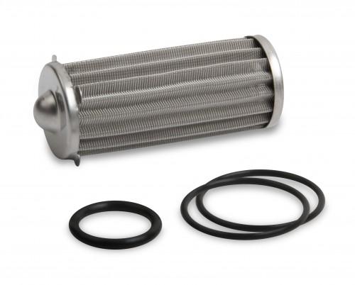 Earls 260 GPH HP Billet Fuel Filter Element & O-Ring Kit - 100 micron