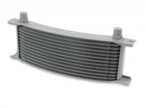 Earls 16 Row Oil Cooler Core, -6 AN male fitting size, gray narrow