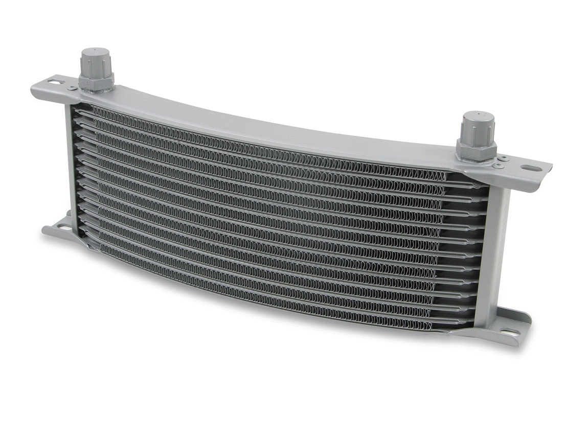 Earls 13 Row Oil Cooler Core, -8 AN male fitting size, gray narrow