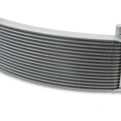 Earls 13 Row Oil Cooler Core, -6 AN male fitting size, gray wide